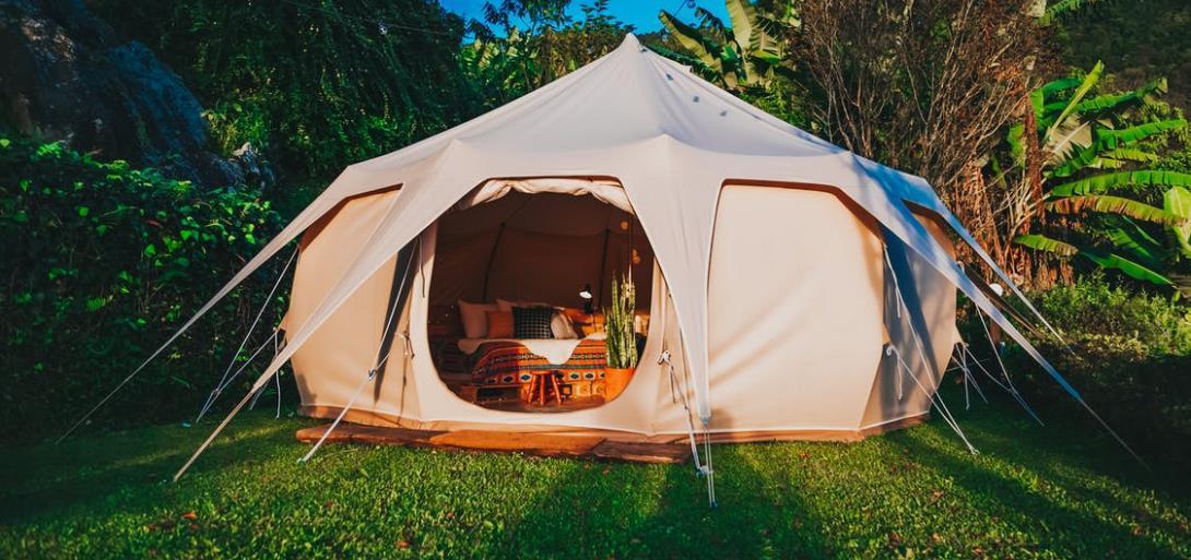 Zeltteppichals zusätzliche Unterlage für das Zelt